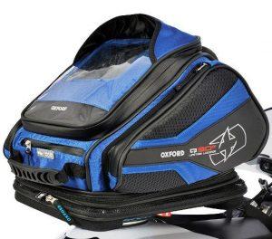 voorbeeld bagage tas voor op een tank